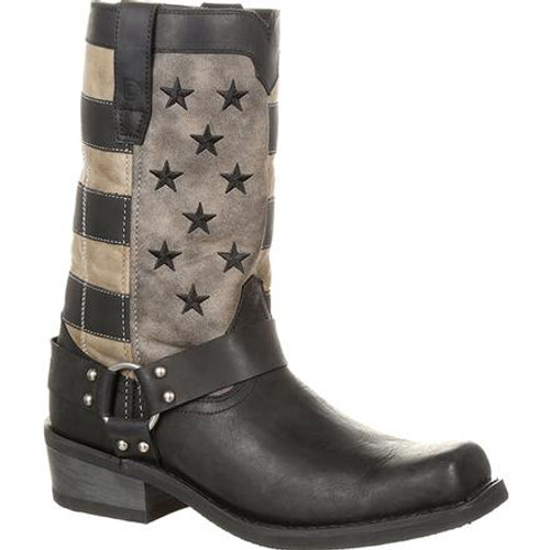 Durango® Mens Black Faded Flag Harness Boot DDB0141 BLACK CHARCOAL GREY