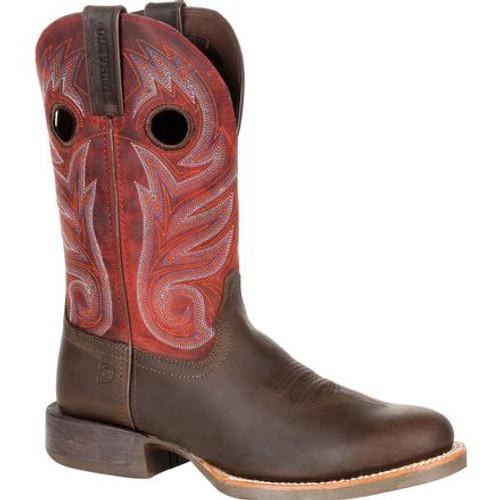 Durango® Mens Rebel Pro Dark Chestnut Western Boot DDB0236 DARK CHESTNUT AND CRIMSON