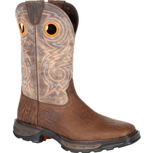 Durango® Mens Maverick XP Composite Toe Western Work Boot DDB0239 BAY BROWN AND STEEL CUT OAT