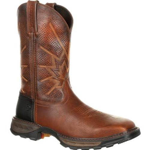 Durango® Maverick XPSteel Toe Ventilated Pull-On Work Boot DDB0175 TOBACCO