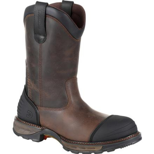 Durango® Mens Maverick XP Composite Toe Waterproof Pull On Work Boot DDB0237 DISTRESSED GRIZZLY BROWN