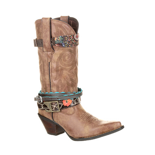 Crush by Durango® Women's Accessorized Western Boot DCRD145 BROWN