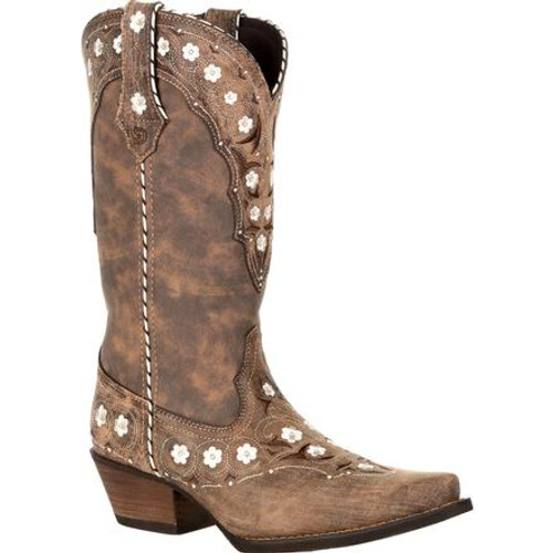 Crush by Durango® Women's Floral Western Boot DRD0362 DRIFTWOOD