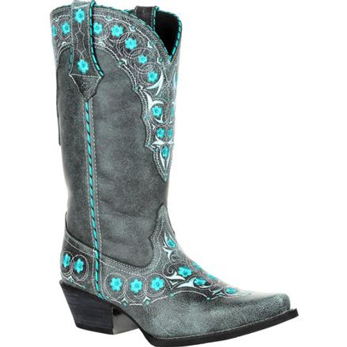 Crush by Durango® Women's Blue Floral Western Boot DRD0363 BLUE SLATE
