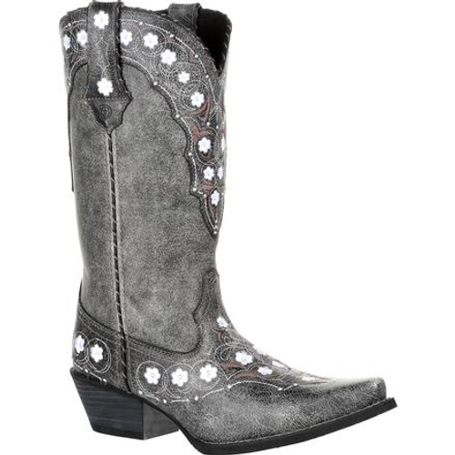 Crush by Durango® Women's Pewter Floral Western Boot DRD0361 PEWTER