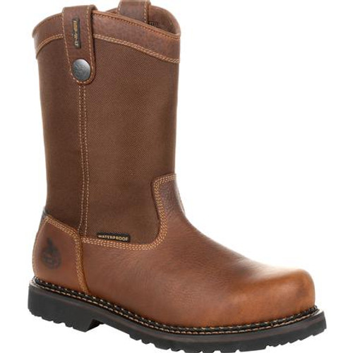 Georgia Giant Revamp Steel Toe Waterproof Pull-On Work Boot GB00319 BROWN