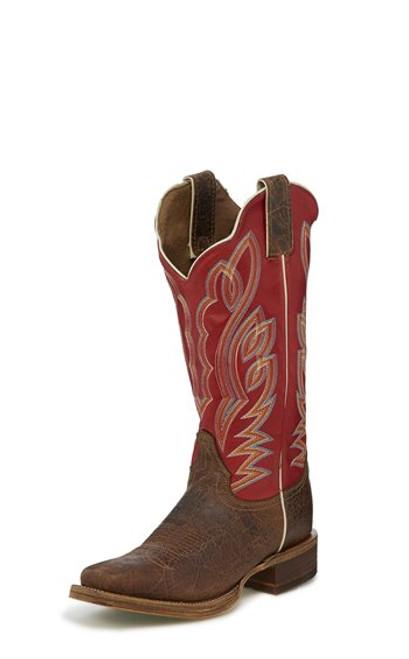 "Justin Ladies Boots BRL377 13 Katia"" Maple"