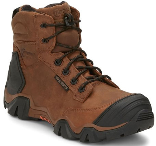 "Chippewa Mens Boots 50003 6"" ATLAS W/P BROWN NANO COMP TOE"