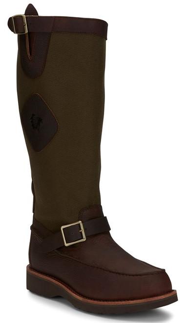 "Chippewa Mens Boots 23923 17"" CUTTER BACK ZIP MOCC TOE SNAKE BOOT"