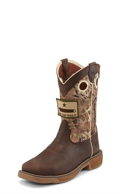 Justin Mens Boots WK4321  Rush Steel Toe Grizzly Brown