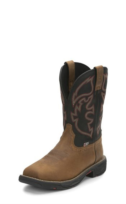 Justin Mens Boots WK4337  Rush Comp Toe Tan