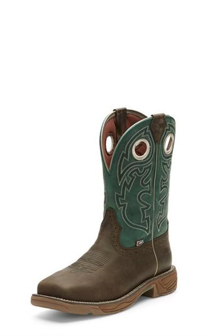 Justin Mens Boots WK4339  Rush Brown