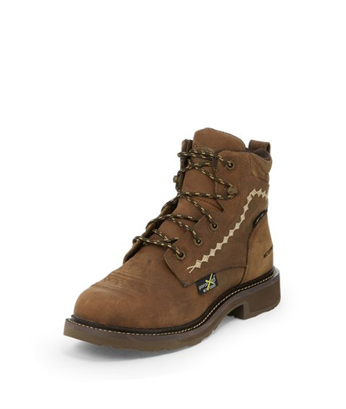 """Justin Ladies Boots WKL994  6"""" Lanie Lace Up Comp Toe"""