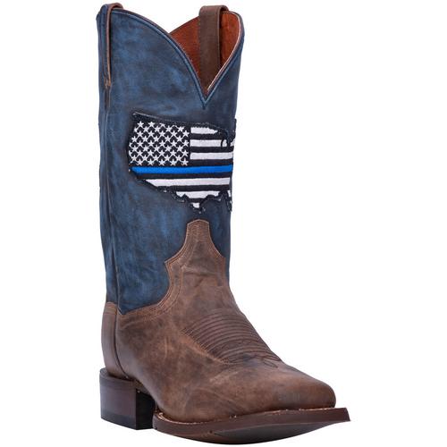 """Dan Post Boots Mens DP4515 11"""" THIN BLUE LINE"""