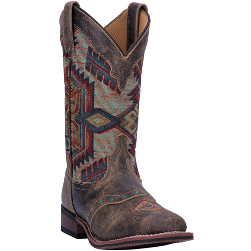 "Laredo Boots Ladies 5647 11"" SCOUT BROWN - MULTI"