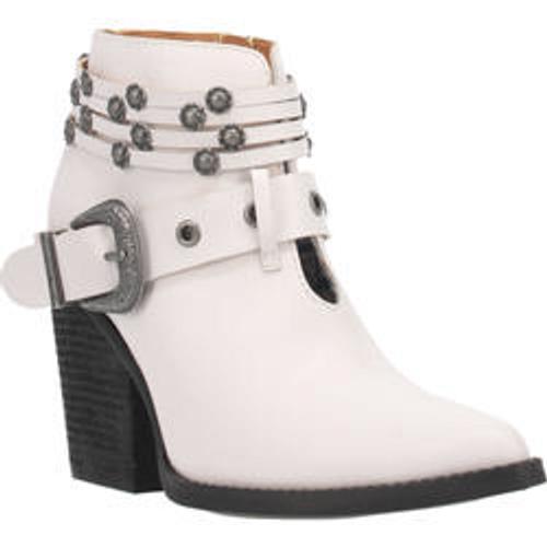 """Dingo Boots Ladies DI 242 5"""" #BORN TO RUN White"""