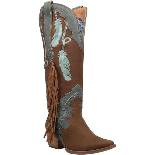 "Dingo Boots Ladies DI 267 15"" #DREAM CATCHER Brown"