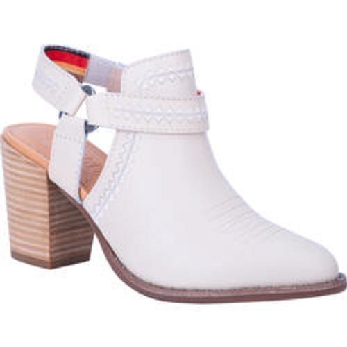 "Dingo Ladies Footwear DI 160 4"" CONCHO Off White"