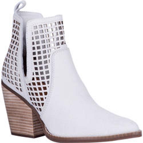 "Dingo Boots Ladies DI 119 4"" STOP N' STARE Off White"