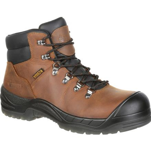 Rocky Boots Mens Worksmart Composite Toe Puncture-Resistant Work Boot RKK0299 BROWN