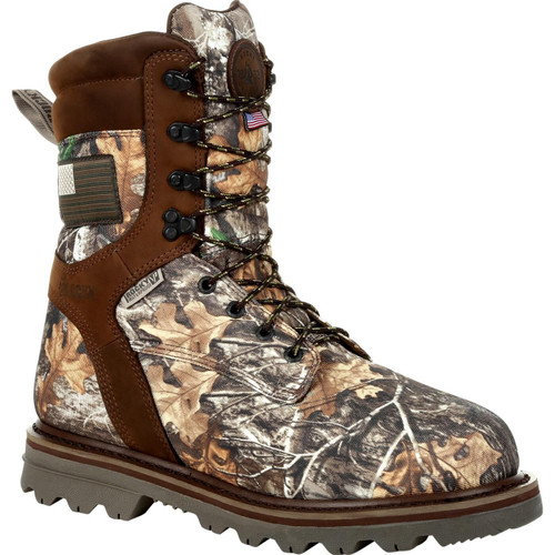 Rocky Mens Stalker Waterproof 800G Insulated Made in the USA Outdoor Boot RKS0493 REALTREE EDGE