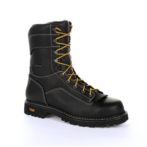Georgia Boot Mens AMP LT Logger Composite Toe Waterproof Work Boot GB00272 BLACK