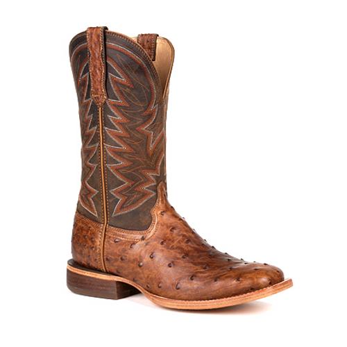 Durango® Mens Premium Exotic Full-Quill Ostrich Western Boot DDB0272 SUNSET WHEAT OSTRICH