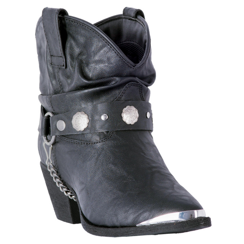 """Dingo Boots Ladies DI8940 6"""" FIONA BLACK"""
