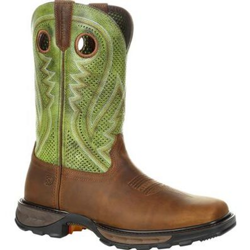 Durango® Mens Maverick XP Western Work Boot DDB0305 BROWN AND OLIVE GREEN