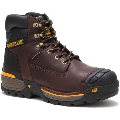 "Caterpillar Men's Excavator LT 6"" Waterproof Work Boot P51020 Espresso"