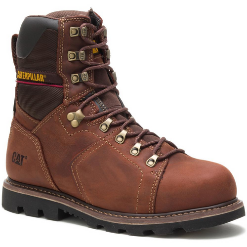 "Caterpillar Men's Alaska 2.0 8"" Waterproof Thinsulate™ Steel Toe Work Boot P90979 Walnut"