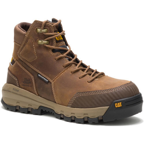 Caterpillar Men's Device Waterproof Composite Toe Work Boot P90793 Dark Beige