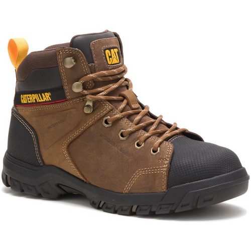 Caterpillar Women's Wellspring Waterproof Metatarsal Guard Steel Toe Work Boot P91116 Real Brown