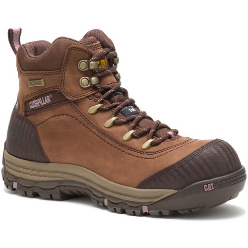 Caterpillar Women's Ally Waterproof Composite Toe Work Boot P90760 Brown