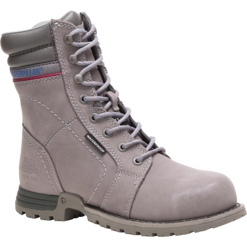 Caterpillar Women's Echo Waterproof Steel Toe Work Boot P90565 Frost Grey