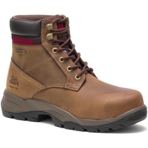 "Caterpillar Women's Dryverse 6"" Waterproof Steel Toe Work Boot P90443 Dark Brown"
