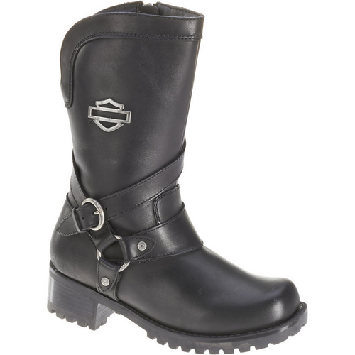 Harley Davidson Ladies Boots Amber D85514 Black