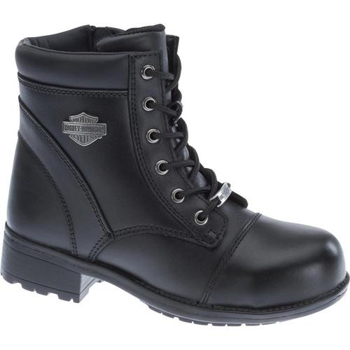 Harley Davidson Ladies Boots Raine Steel Toe D83883 Black ST