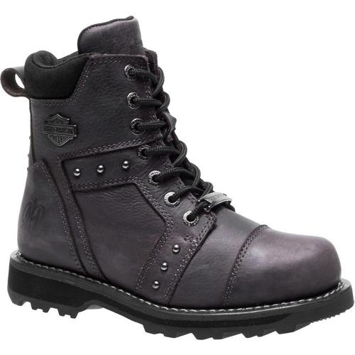Harley Davidson Ladies Boots Oakleigh D84277 Grey