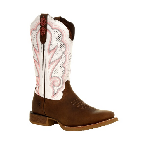 Durango® Lady Rebel Pro Women's White Ventilated Western Boot DRD0392 TRAIL BROWN AND WHITE