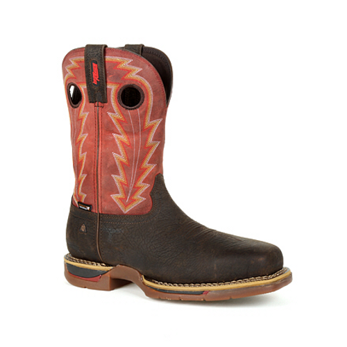 Rocky Mens Long Range Composite Toe Waterproof Western Boot RKW0319 BROWN AND RED