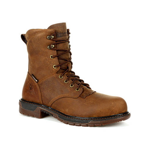 Rocky Mens Original Ride FLX Composite Waterproof Lace Up Western Boot RKW0324 SANDY BROWN
