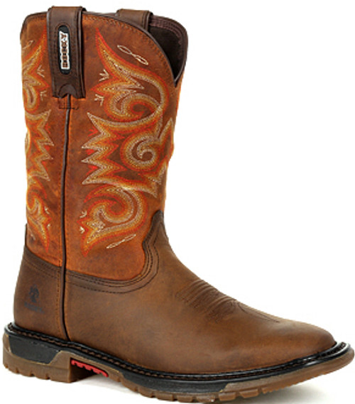 Rocky Original Ride FLX Women's Western Boot RKW0320 BROWN AND CHESTNUT
