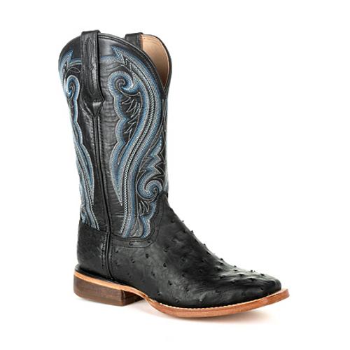 Durango® Premium Exotics Women's Full-Quill Ostrich Black Western Boot DRD0390 BLACK ONYX OSTRICH