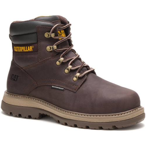 "Caterpillar Men's Fairbanks 6"" Waterproof Steel Toe Work Boot P91080 Mulch"