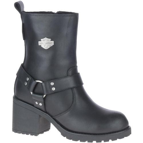 """Harley Davidson Ladies Footwear Howell 7"""" Harness D84665 Black"""