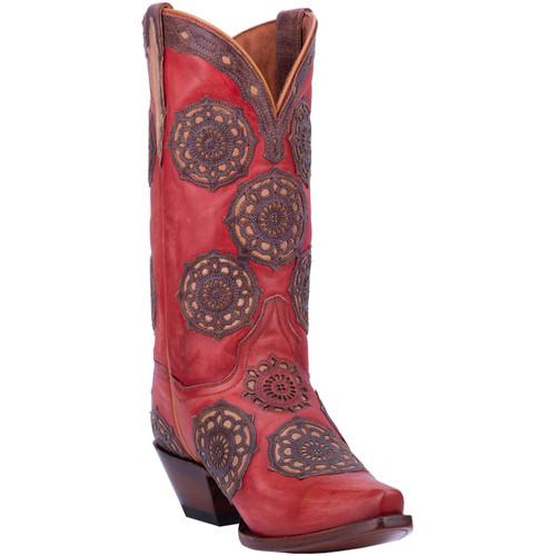 """Dan Post Boots Ladies DP3763 12"""" CIRCUS FLOWER"""