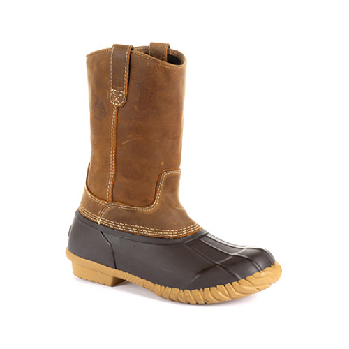 Georgia Boots Mens Marshland Unisex Alloy Toe Pull-On Duck Boot GB00414 BROWN