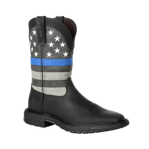 Rocky Mens Footwear Blue Line Western Boot RKD0072 BLACK