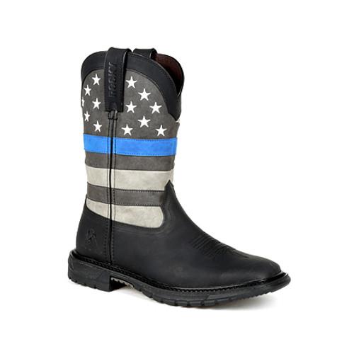 Rocky Blue Line Women's Western Boot RKD0080 BLACK BLUE